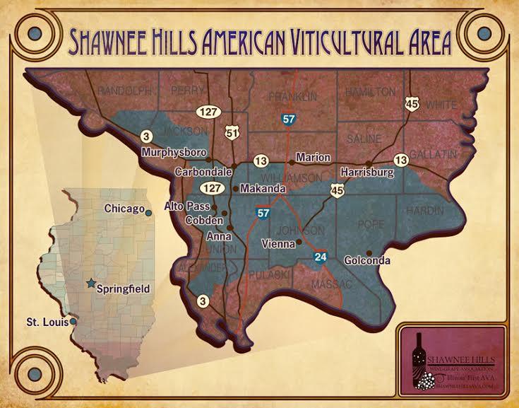 Shawnee Hills AVA Map