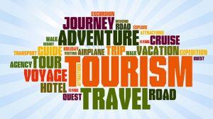Tourism, Travel, Adventure, Journey Word Art