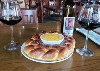 Homemade Pretzel & Wine